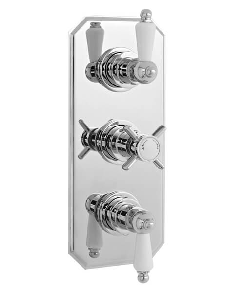 Nuie Premier Edwardian Triple Concealed Thermostatic Shower Valve