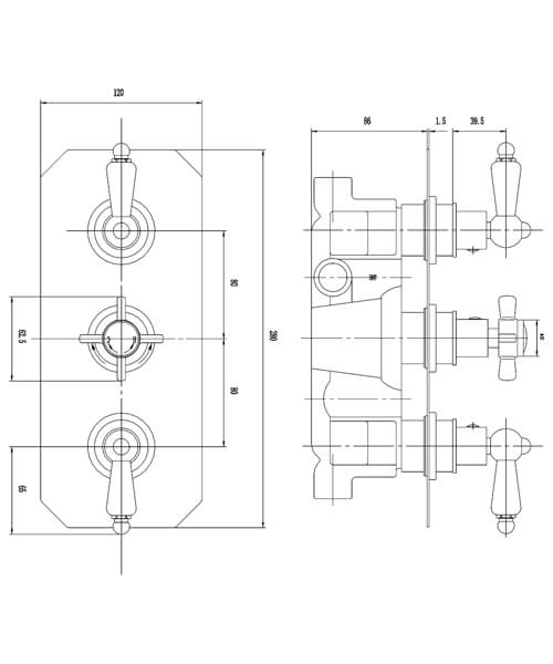 Technical drawing 55081 / A3057