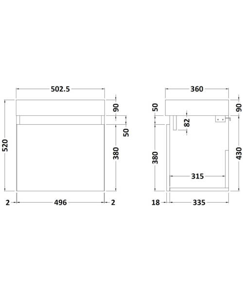 Technical drawing 58164 / MER002