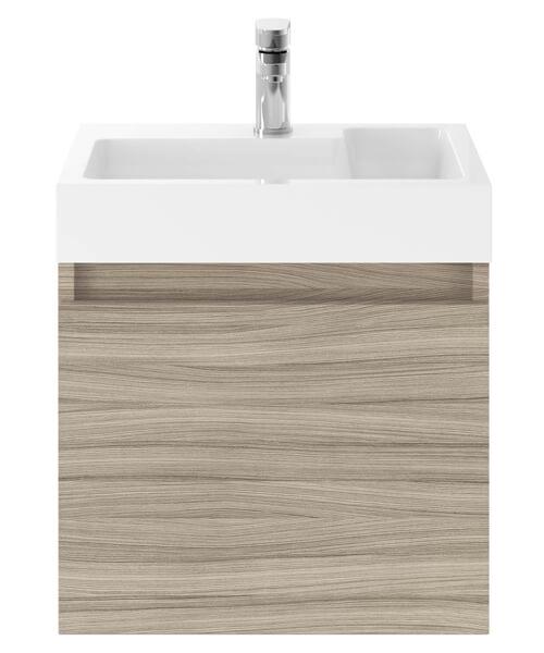 Additional image of Nuie Premier Merit 500mm Single Door Wall Mounted Sink With Vanity Cabinet
