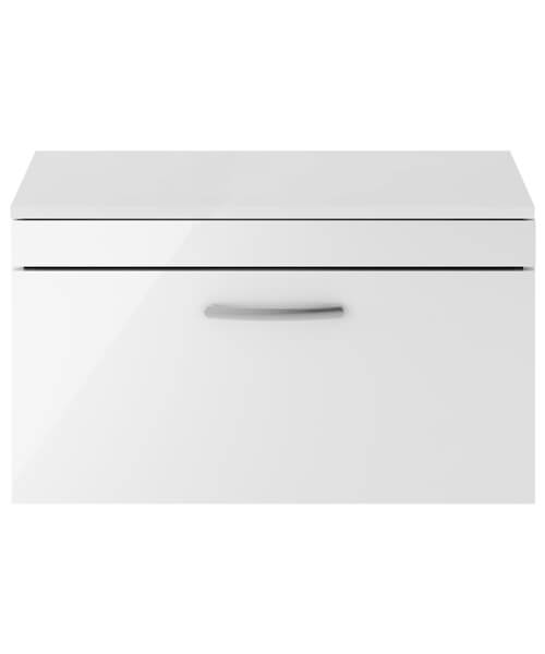 Nuie Premier Athena 800mm 1 Drawer Wall Mounted Worktop With Unit