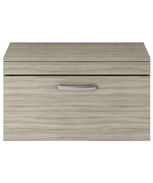 Additional image of Nuie Premier Athena 800mm 1 Drawer Wall Mounted Worktop With Unit