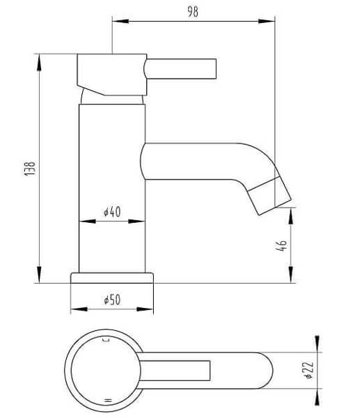 Technical drawing 58118 / TVT315
