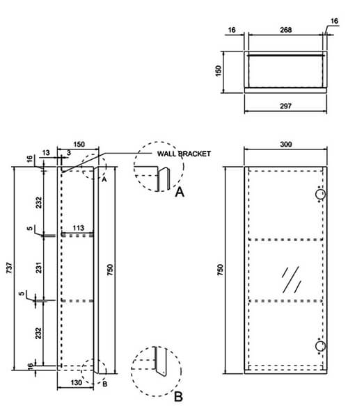 Technical drawing 42121 / AC30W