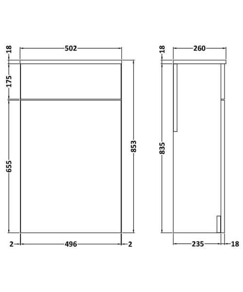 Technical drawing 58165 / MOC542