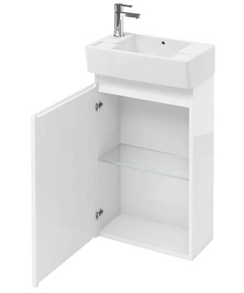 Britton Compact 305mm Floor Mount Unit With Left Hand Basin