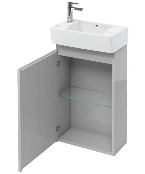 Additional image of Britton Compact 305mm Floor Mount Unit With Left Hand Basin