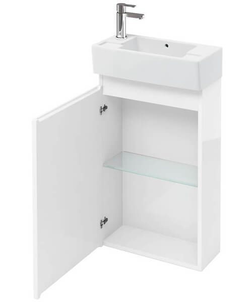 Britton Compact 250mm Floor Standing Unit With Left Hand Basin