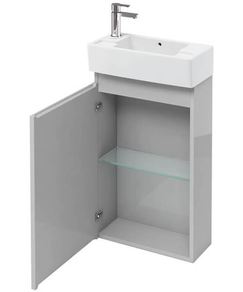 Additional image of Britton Compact 250mm Floor Standing Unit With Left Hand Basin