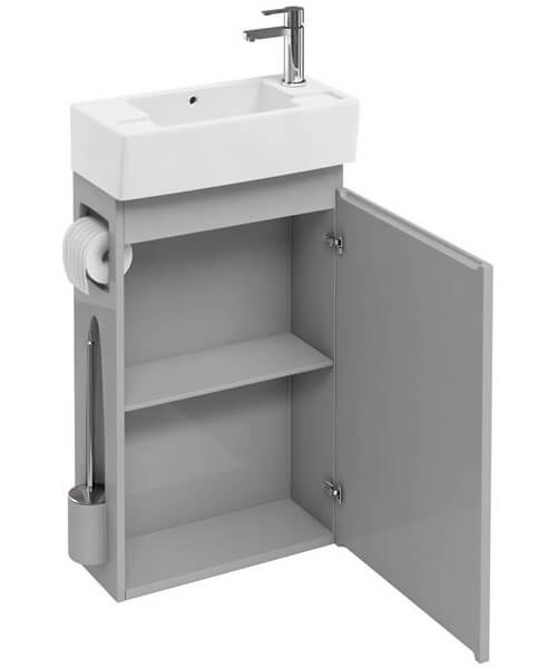 Additional image of Britton All In One Floor Standing Cabinet With Brush And Paper Holder