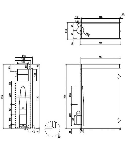 Technical drawing 45022 / AR50W