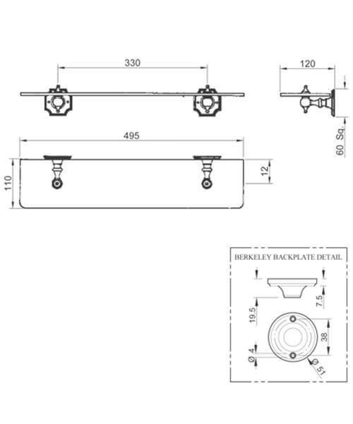 Technical drawing 32767 / BKSHEMETCHR