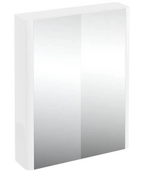Britton Compact 600mm Double Mirrored Door Cabinet