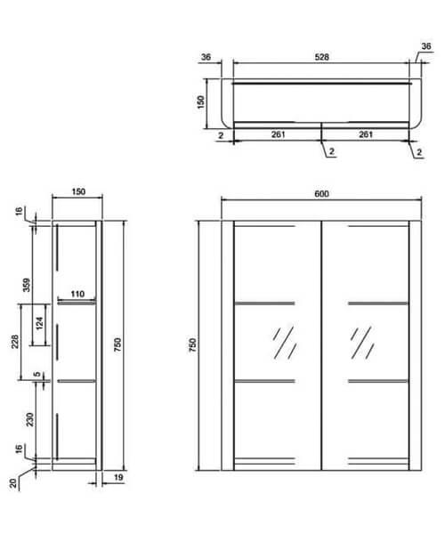 Technical drawing 42132 / AC50W