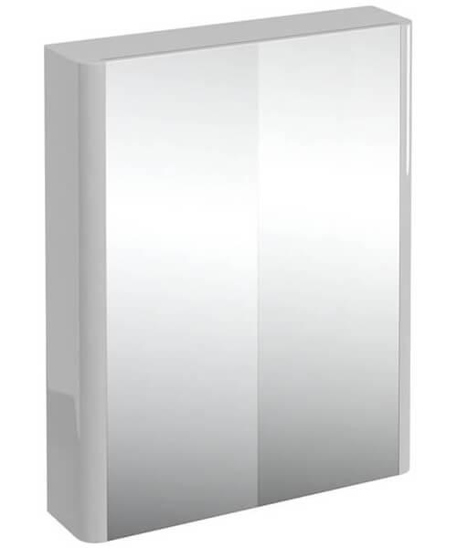 Additional image of Britton Compact 600mm Double Mirrored Door Cabinet