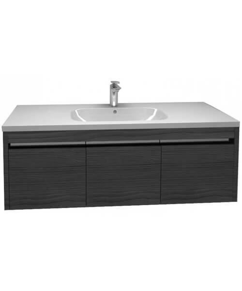 Additional image of Pura Alma Wall Mounted Single Drawer Unit 1200mm