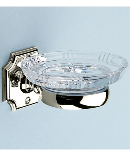 Alternate image of Silverdale Victorian Luxury Traditional Glass Soap Dish Chrome