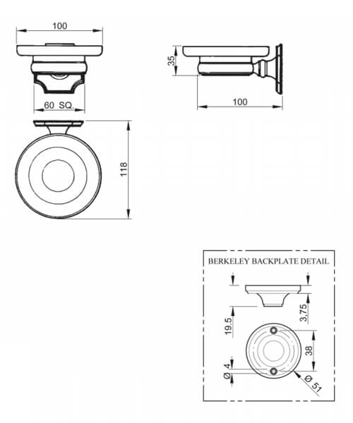 Technical drawing 32771 / BKSPDMETCHR