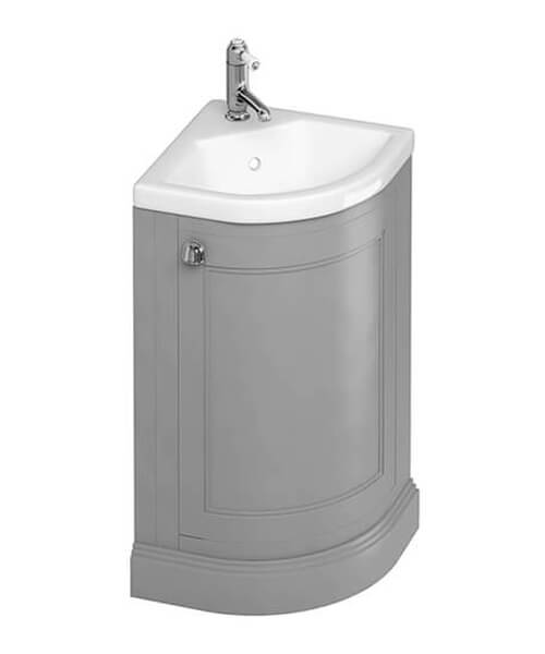 Burlington Freestanding Corner Vanity Unit With Quattrocast Basin - W 430 x H 840mm