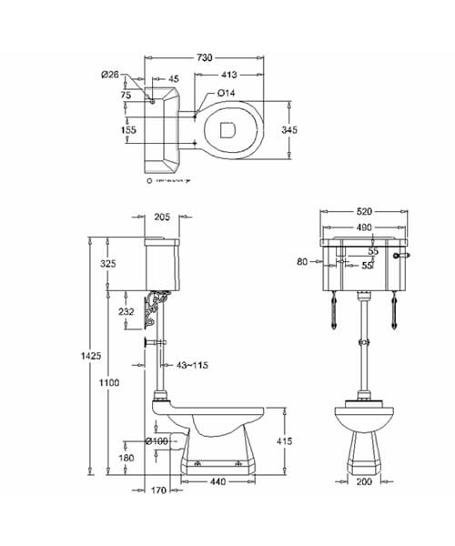 Technical drawing 57577 / P20