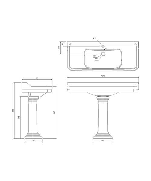Technical drawing 57570 / B19 1TH