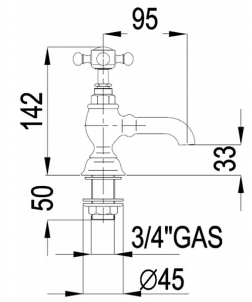 Technical drawing 32793 / VCTBT2THCHR
