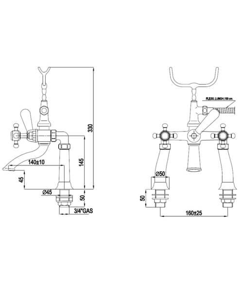 Technical drawing 32794 / VCTBTBSDCHR