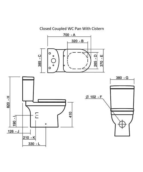 Technical drawing 32858 / SILRI100SC