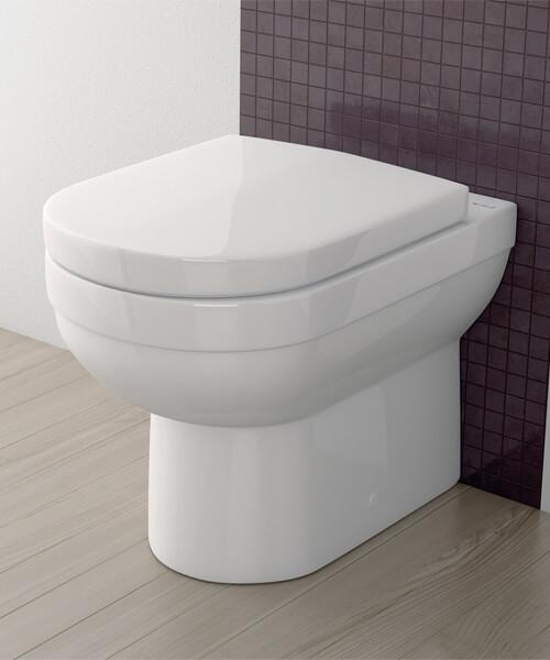 Silverdale Richmond Back To Wall WC Pan White