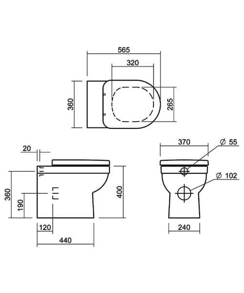 Technical drawing 32856 / SILRI102