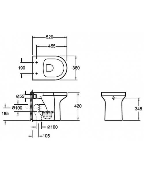 Technical drawing 55129 / CB10156R