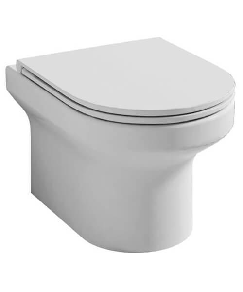 Pura Alma Rimless Wall Hung WC Pan 500mm