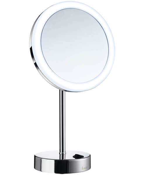 Smedbo Outline Shaving And Make Up Round Mirror With Light