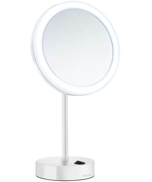 Additional image of Smedbo Outline Shaving And Make Up Round Mirror With Light