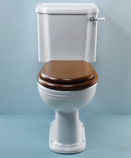 Silverdale Victorian White Close Coupled Toilet
