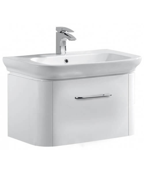 Pura Grace 600mm Single Drawer Wall Mounted Cabinet With Basin