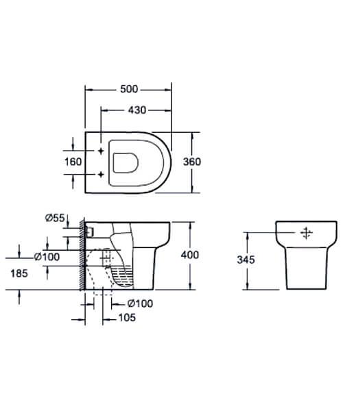 Technical drawing 55145 / CB10122