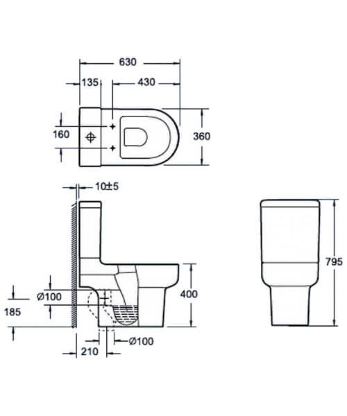 Technical drawing 55147 / C10122C