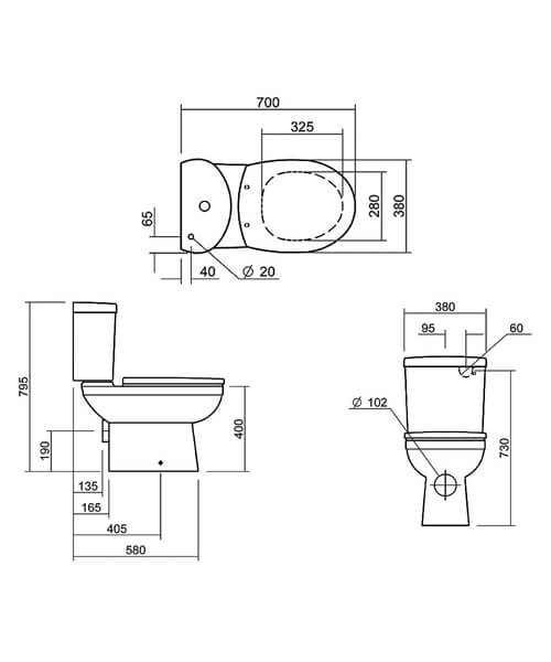 Technical drawing 32866 / SILTH100SC