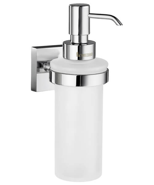Smedbo House Holder With Frosted Glass Soap Dispenser