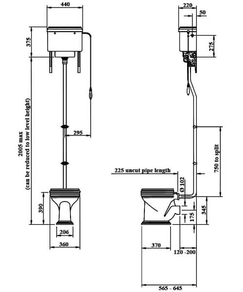 Technical drawing 32871 / VCCLOHL6WHI
