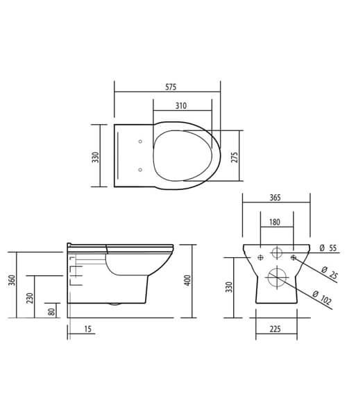 Technical drawing 32875 / BSPANWM6WHI