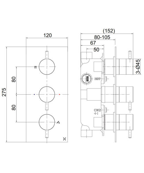Technical drawing 36437 / PRO2000RC+