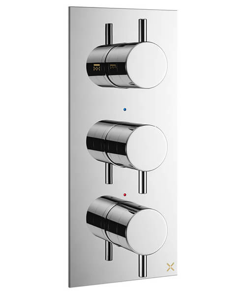 Crosswater MPRO Vertical Thermostatic Shower Valve With 3 Control - Portrait