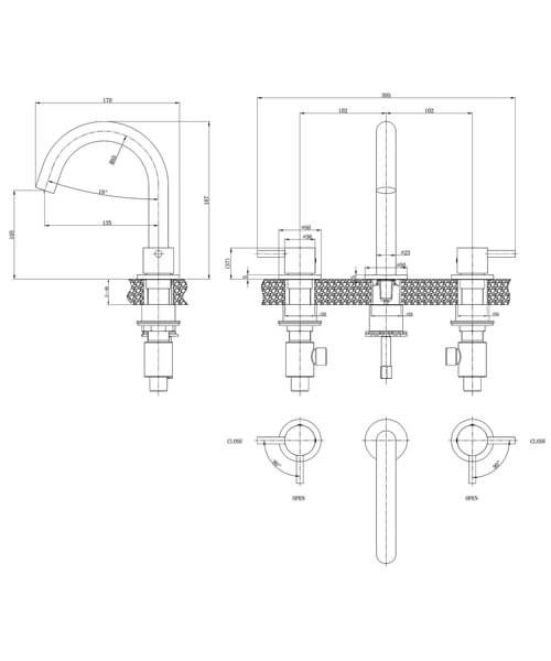 Technical drawing 36362 / PRO135DNC