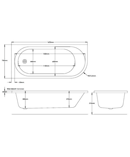 Technical drawing 55151 / PBFLJB1700LH