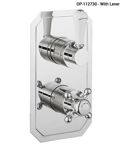 Alternate image of Crosswater Belgravia Crosshead Slimline 1500 Thermostatic Shower Valve With Diverter