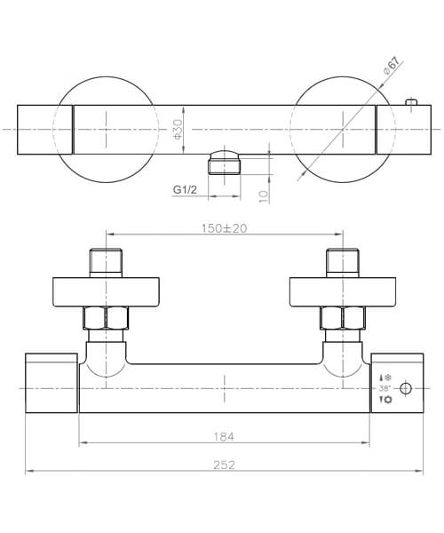 Technical drawing 34828 / CO2WV01