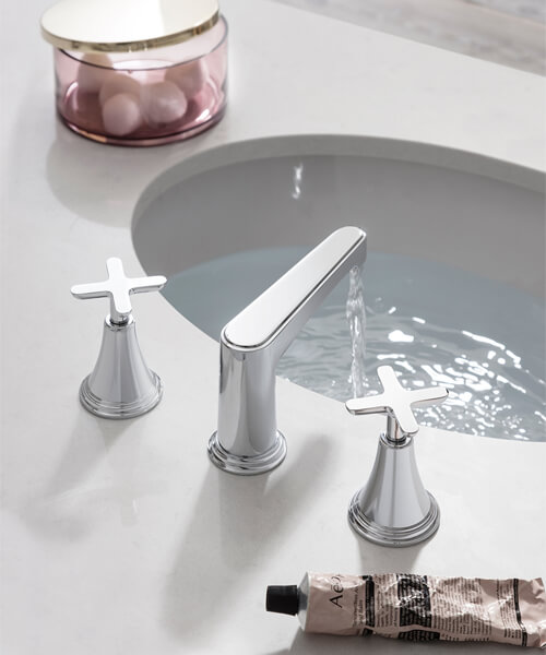 Alternate image of Crosswater Celeste 3 Hole Deck Mounted Basin Mixer Tap