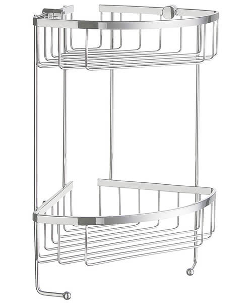 Smedbo Sideline 2 Level Corner Soap Basket